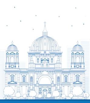 Overzicht berlin cathedral in berlijn
