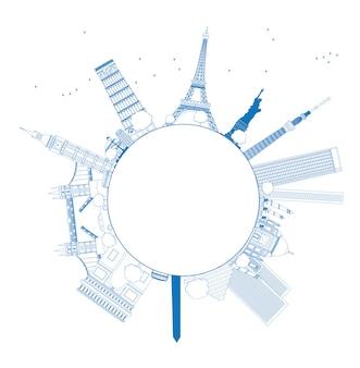 Overzicht beroemde monumenten en monumenten over de hele wereld