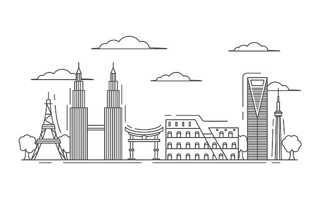 Overzicht bezienswaardigheden skyline