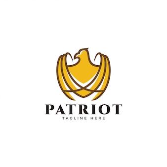 Overzicht en kleur vulling adelaar falcon hawk logo