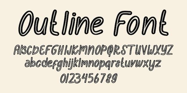 Overzicht lettertype alfabet