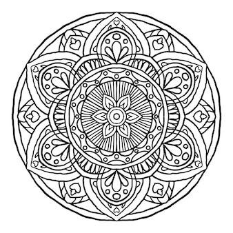 Overzicht mandala decoratief rond ornament