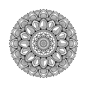Overzicht mandala voor kleurboek