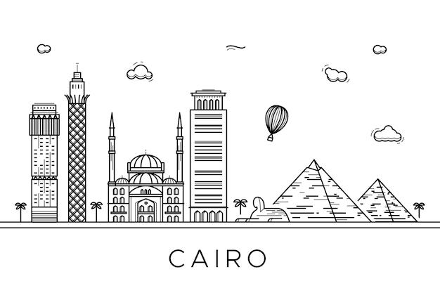 Overzicht oriëntatiepunten skyline thematisch concept