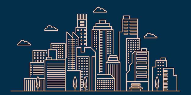 Overzicht stadsgezicht illustratie