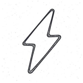 Overzicht van elektrische bliksemschicht thunderbolt strike-symbool bliksemflits vectorillustratie