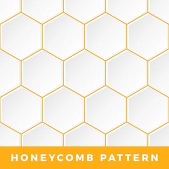 Overzicht zeshoek honingraatpatroon.