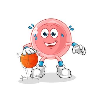Ovum dribbel basketbal karakter