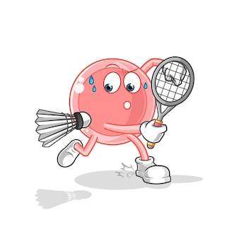 Ovum spelen badminton illustratie