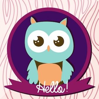 Owl achtergrond ontwerp