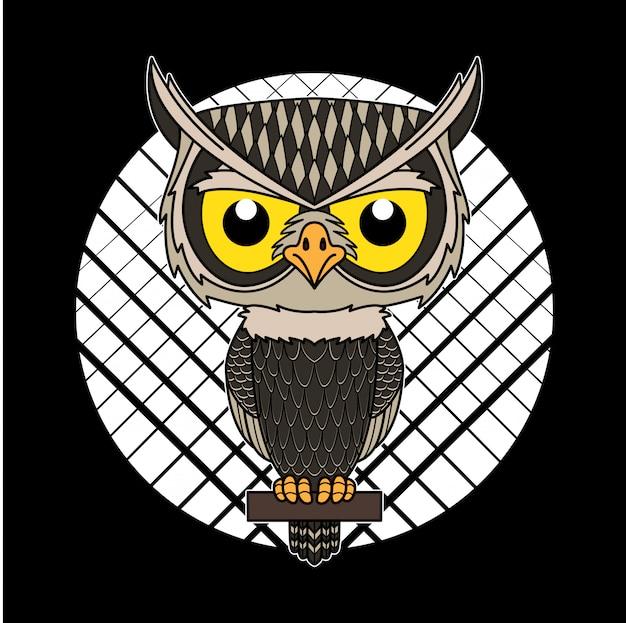 Owl cartoon mascot