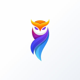 Owl full color design-concept vectormalplaatje