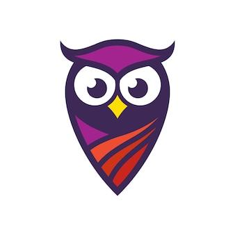 Owl logo stock afbeeldingen