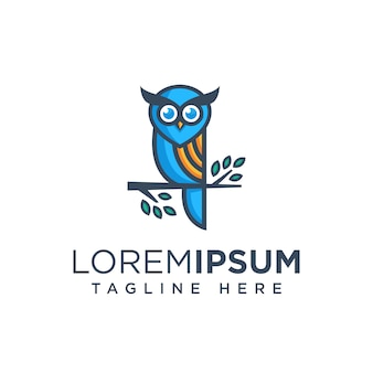 Owl logo template ilustration pictogram
