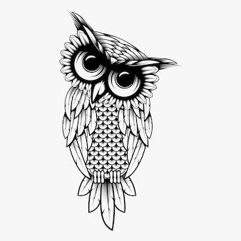 Owl vector ontwerp illustratie