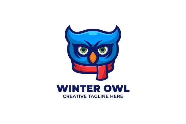 Owl wear sjaal mascotte karakter logo