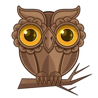 Owl zittend op een tak