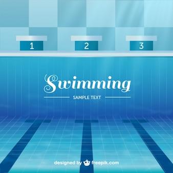 Oympic zwembad vector