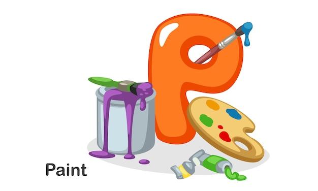 P voor paint