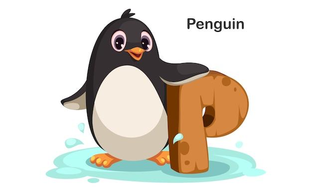 P voor penguin