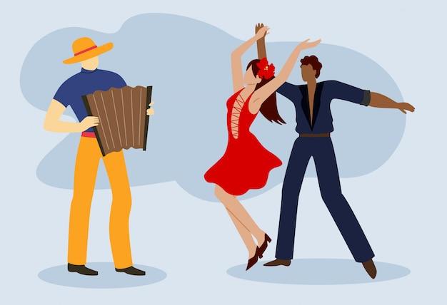 Paar ballroom kostuums dans ballroom dansen