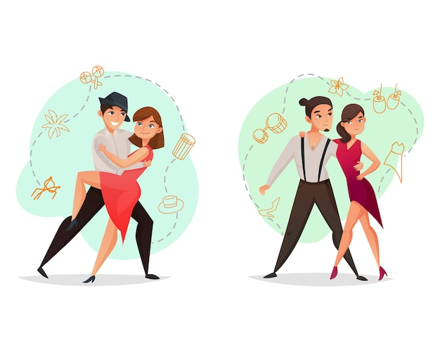 Paar dance 2 templates set