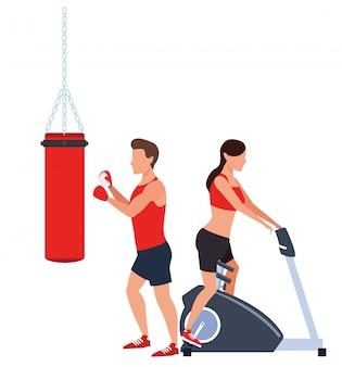 Paar dat in de gymnastiek uitwerkt