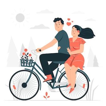 Paar fiets concept illustratie