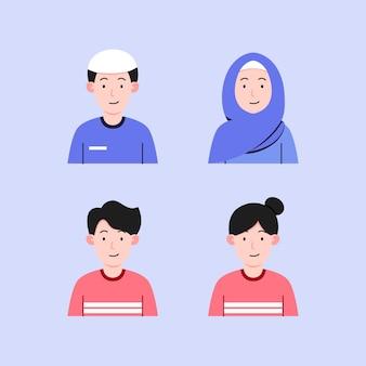 Paar karakter ontwerp illustratie