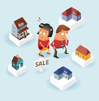 Paar kopen van een huis