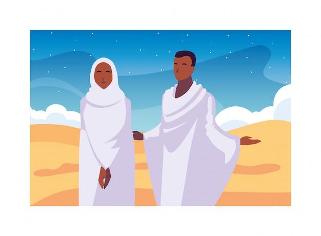 Paar mensen pelgrims hadj, dag van dhul hijjah
