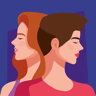 Paar mooie meisjes karakters