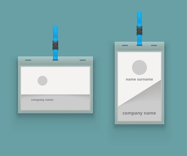 Paar ontwerpen voor sjablonen voor identiteitskaarten