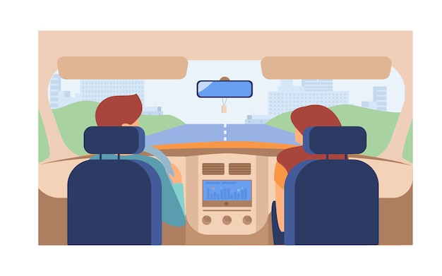 Paar rijdend voertuig