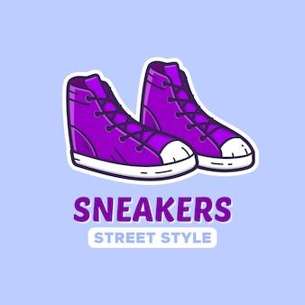 Paar sneakers.
