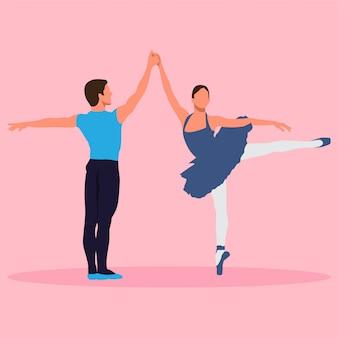 Paar van de ballerina
