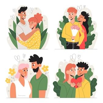 Paar verliefd collectie