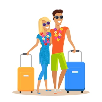 Paar zomervakantie reizen