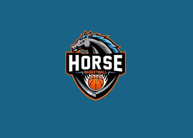 Paard esport team logo ontwerp