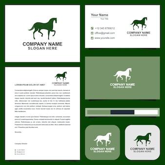 Paard groen en visitekaartje