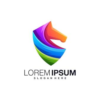 Paard kleurrijke logo sjabloon