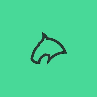Paard line art simple minimalist logo design inspiration vector illustration