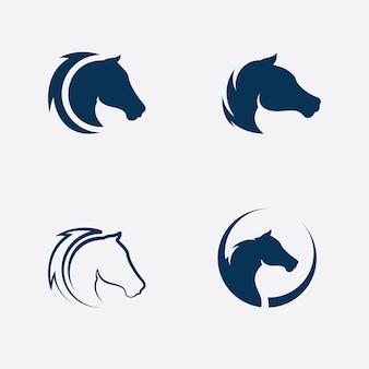 Paard logo sjabloon vector illustratie ontwerp