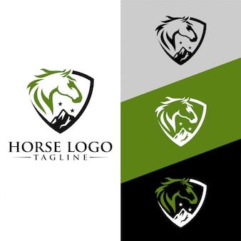 Paard logo template stock afbeelding