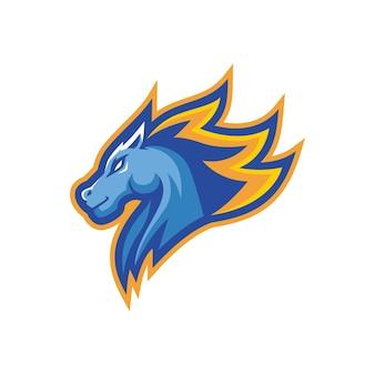 Paard mascotte logo