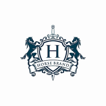 Paard merk, logo sjabloon