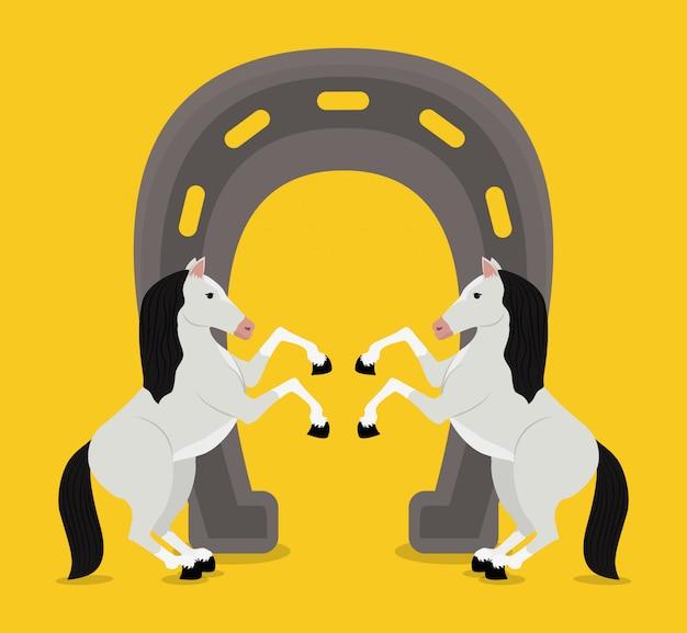 Paard ontwerp illustratie