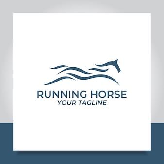 Paard run logo ontwerp snelheid sprong race