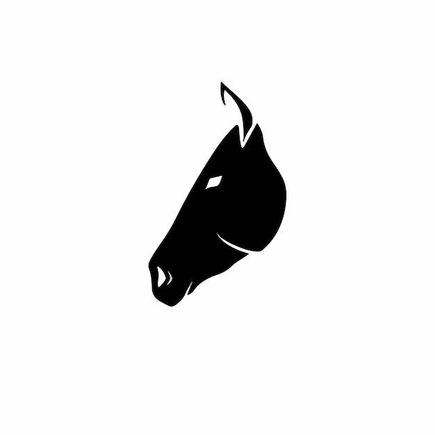 Paard symbool logo tattoo design stencil vectorillustratie