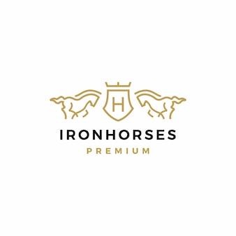 Paard wapenschild logo